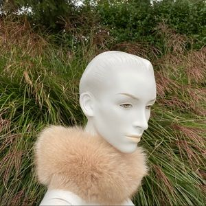 Vintage fur scarf neck wrap